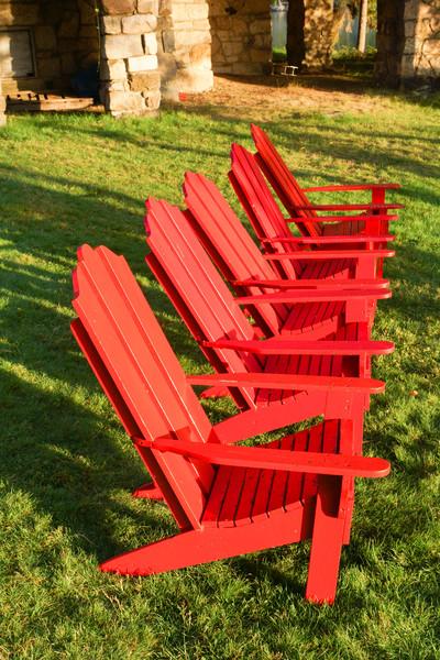 Row of Adirondacks