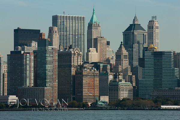 Manhattan Skyline from Ellis Island, New York City