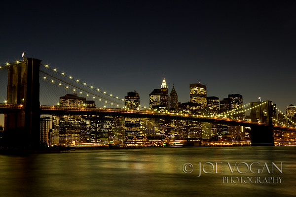 Brooklyn Bridge, Manhattan Skyline, New York City