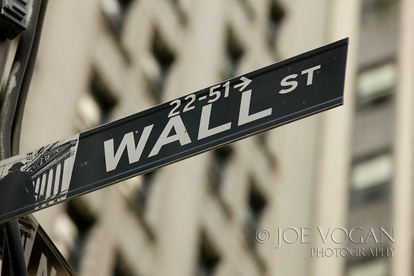 Street Sign, Wall Street, Manhattan, New York City