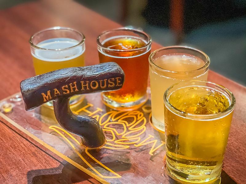 mash house beer flight