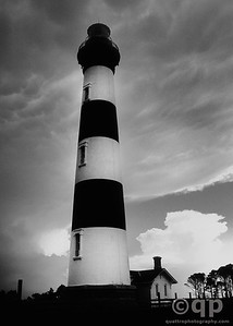 BODIE LIGHTHOUSE BLACK AND WHITE