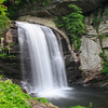 Looking Glass Falls in Pisgah National Forest in the Appalachian Mountains off of Blue Ridge Parkway in North Carolina.