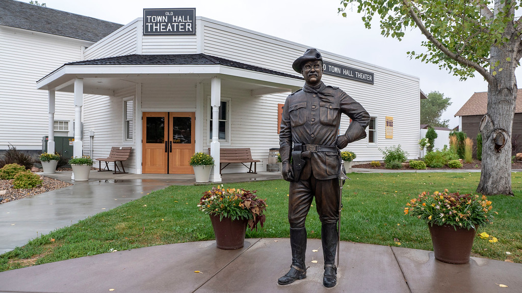 The historic old west town of Medora North Dakota - North Dakota road trip itinerary - The Old Town Hall Theater