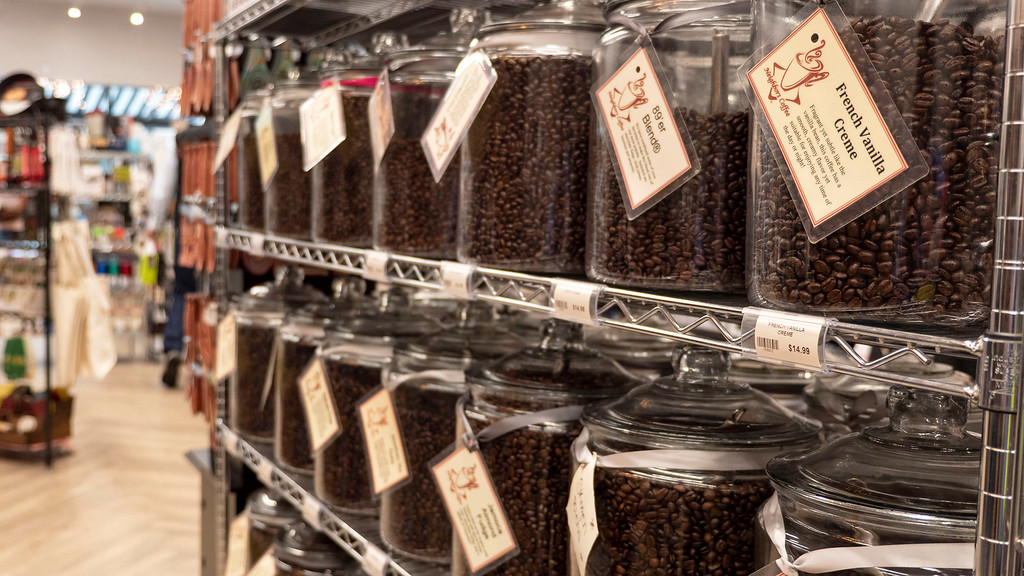 Coffee beans at Cooks on Main in Williston North Dakota - North Dakota road trip ideas