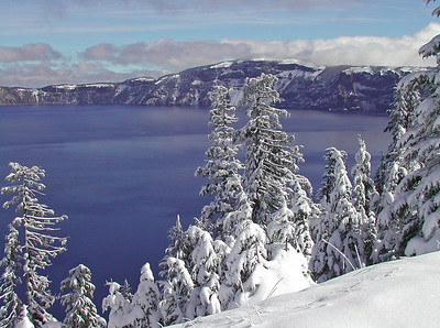 Crater Lake, Oregon - On the day after the first snowfall of the winter, October 4th 2005