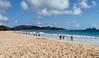 Morning-run,-Waimanalo-Beach,-Oahu