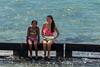 Two-Hawaiian-girls,-Kualoa-Regional-Park,-Oahu