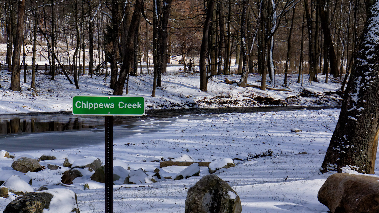 Named after the Chippewa Indians. I attended Chippewa Elementary School. This picture was taken inside the metro park.