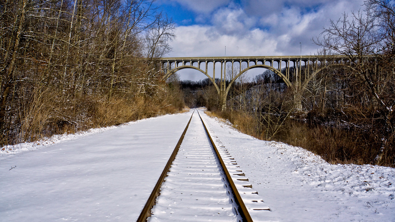 Scenic bridge on the west side of town. Some idiot tried to blow it up earlier this year but the FBI got to him first.
