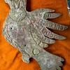 Eagle or hawk copper effigy