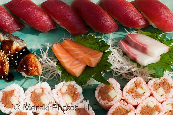 Photo of sushi platter