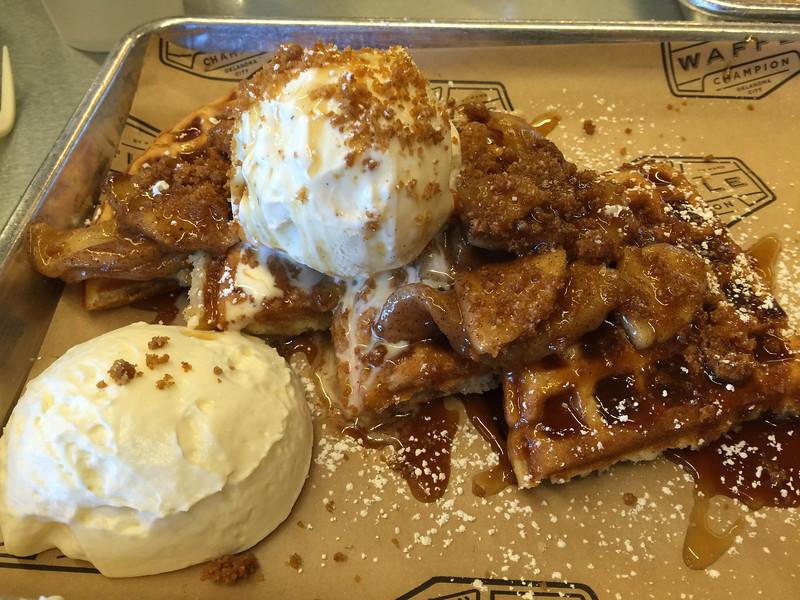 grandmas apple pie waffle
