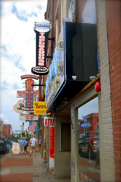 Shopping on Broadway in downtown Nashville