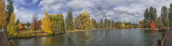 Bend Drake Park Autumn Tree Color Leave Colorful Fine Art Print Country Road Forest Ice - 021801 - 21-10-2017 - 27223x7361 Pixel