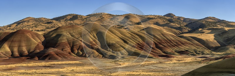 Mitchell Oregon Painted Hills Colored Dunes Formation Overlook Fine Art Prints For Sale Prints - 022368 - 06-10-2017 - 19996x6511 Pixel