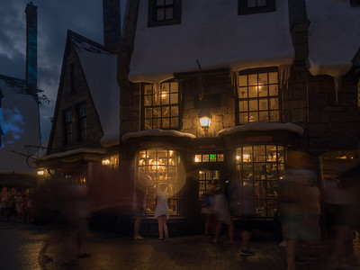 Hogsmeade Village is more magical at night