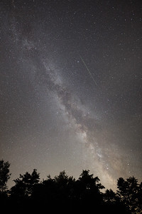 Milk Way and Meteorite in Pennsylvania
