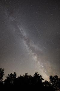 Milk Way and Meteorite in Pennsylvania