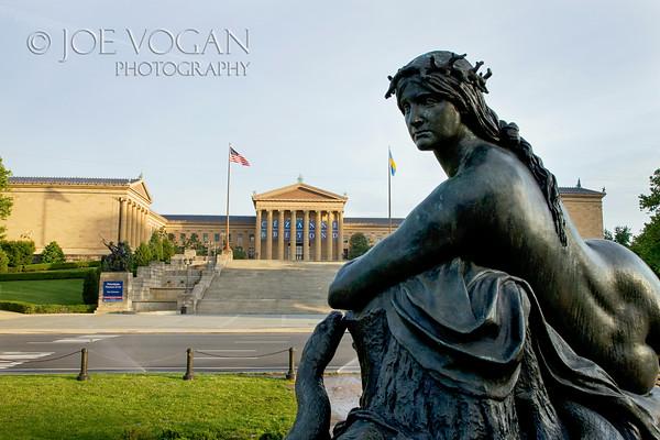 Washington Monument Fountain, Philadelphia Museum of Art, Pennsylvania