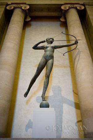 Roman Goddess of the Hunt, Diana, Museum of Art, Philadelphia, Pennsylvania, by August Saint-Gaudens, American born in Ireland, installed 1932