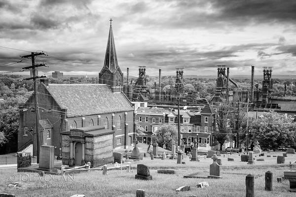 View from St. Michael's Cemetery, Bethlehem, Pennsylvania