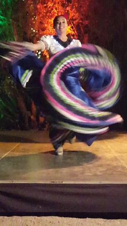 Girl doing Mexican dance