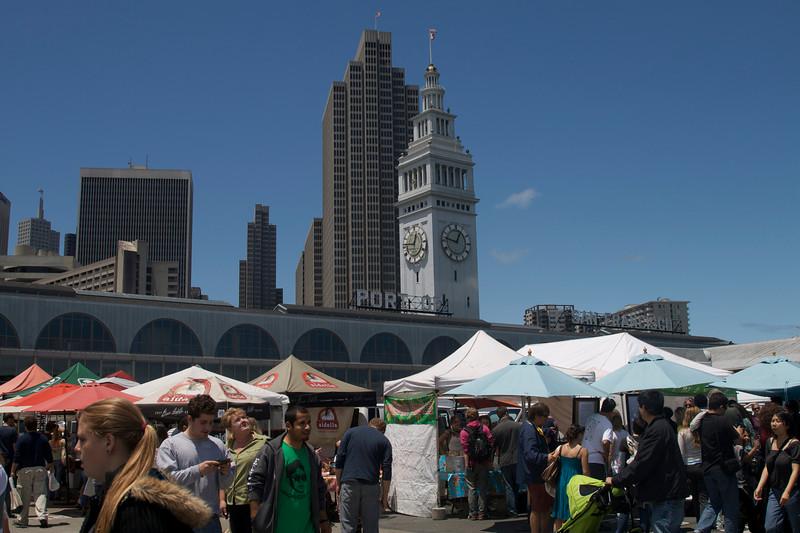 Ferry Plaza Farmer's market, behind the plaza.
