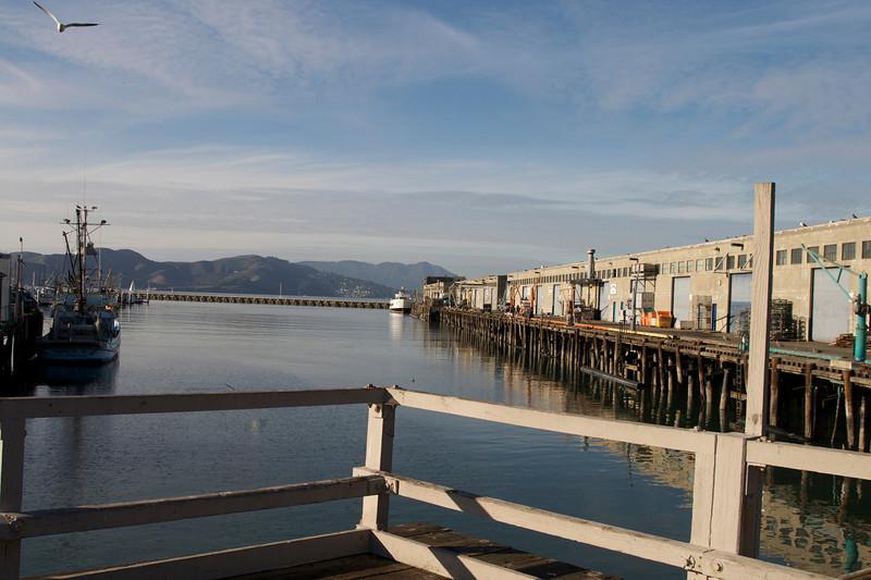 Behind Fisherman's Wharf.