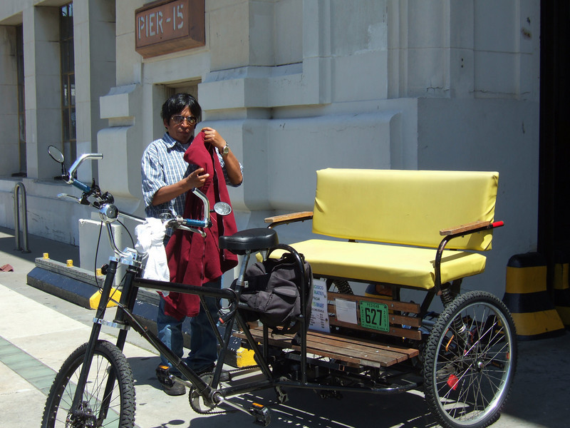 Hmmm....in India/China we call cycle rickshaws exploitation, here it is conservation.