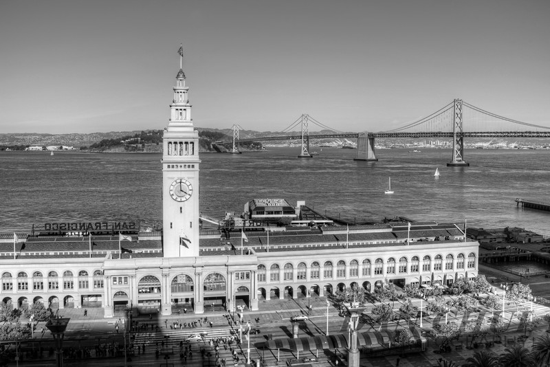 Ferry Building - B&W