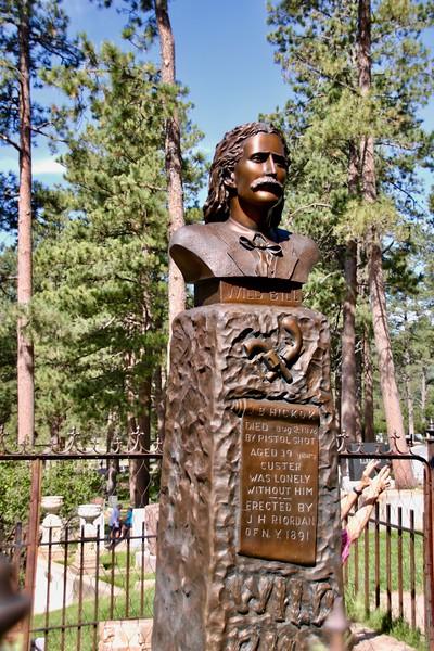 Vahşi Bill Hickock'ın mezarı Deadwood, Güney Dakota