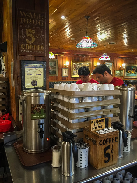 wall drug store 5 cent coffee