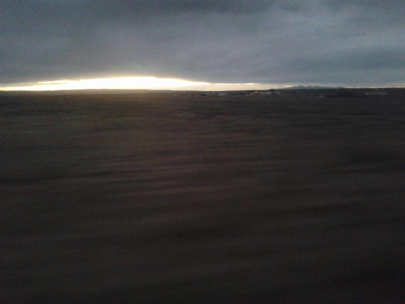 Sunrise over the Mojave.