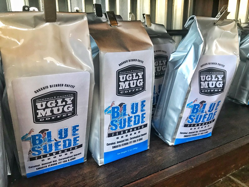 ugly mug blue suede coffee