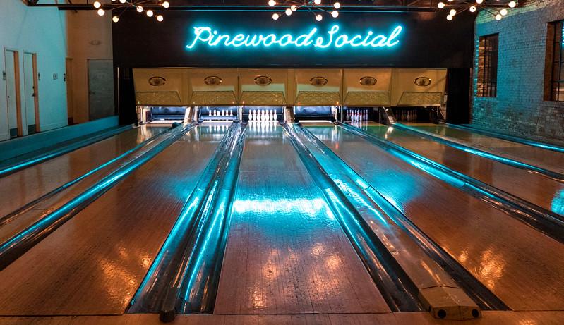 Pinewood Social bowling alley in Nashville TN