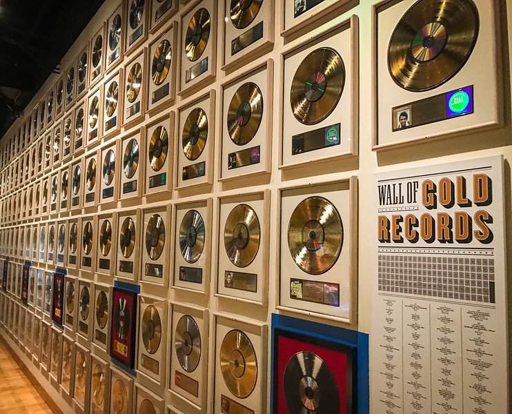 wall of gold records