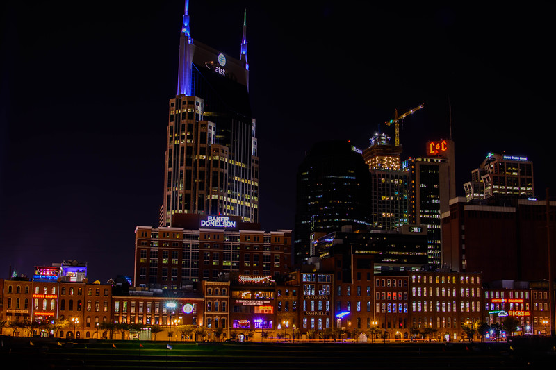 Night Skyline of Nashville