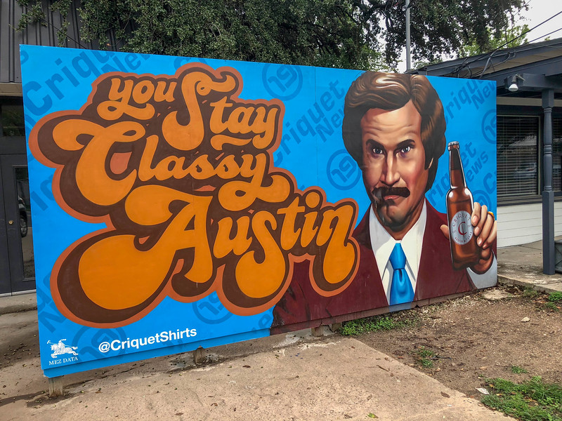 austin street art ron burgundy