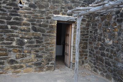 Narrow entrance to Mission San Jose settlement