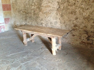 Old table at the granary - Mission San Jose