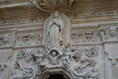 Mission San Jose detail church carvings