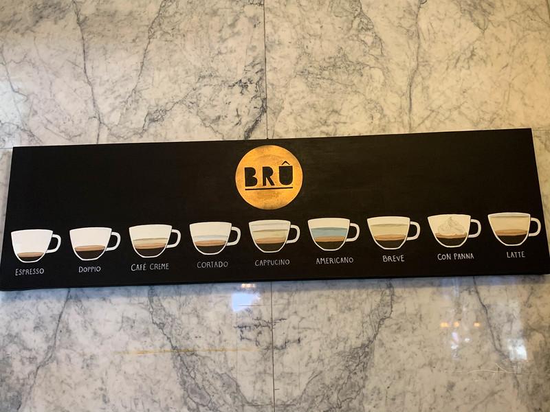 bru artisan coffee sign