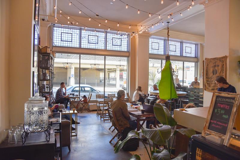 bru artisan coffee works indoor seating