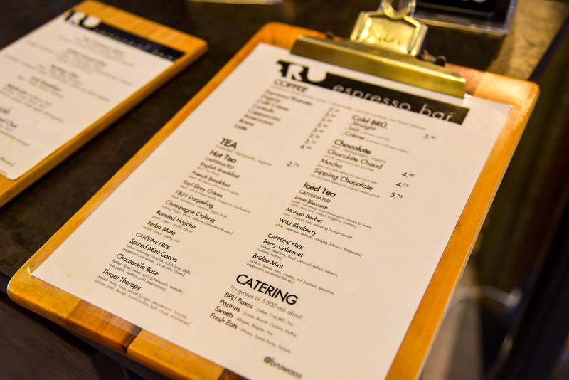bru artisan coffee works menu