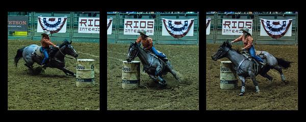 Barrel racer triptych