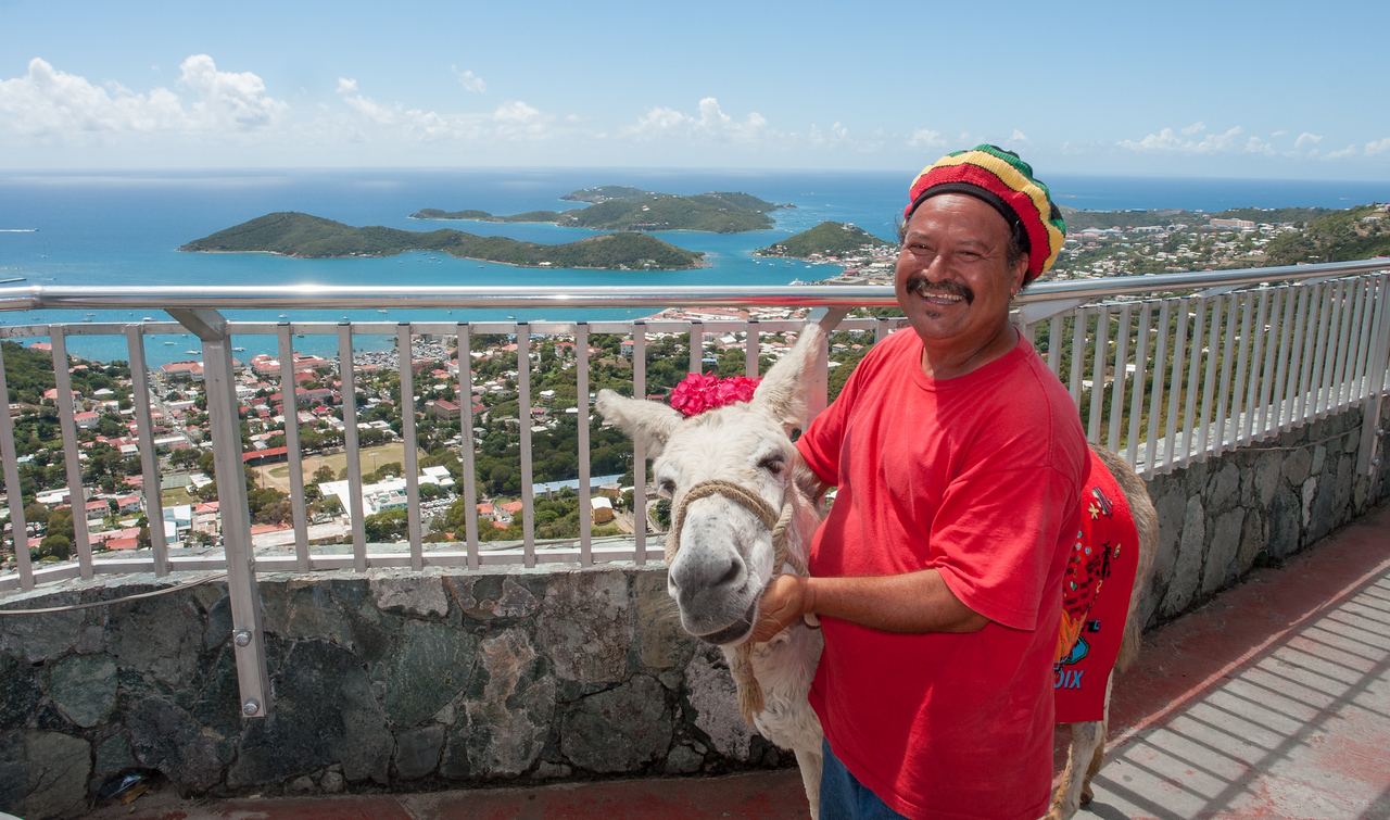 Man with Donkey, Charlotte Amalie