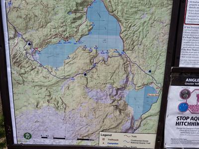 une petite rando tout de même, Lewis Channel, au sud du parc. Trés belle balade de 8km, on se promet de la faire entièrement une autre fois