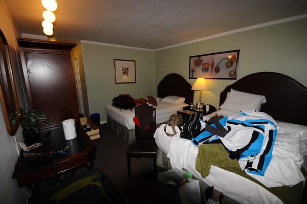 Notre hôtel de cette nuit , un peu new âge, mais la chambre est très petite, vu notre bordel....