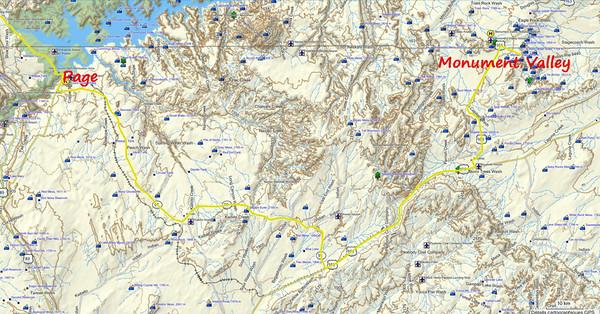 Route vers Monument Valley l'am, avec une belle tempête de neige vers Kaibito